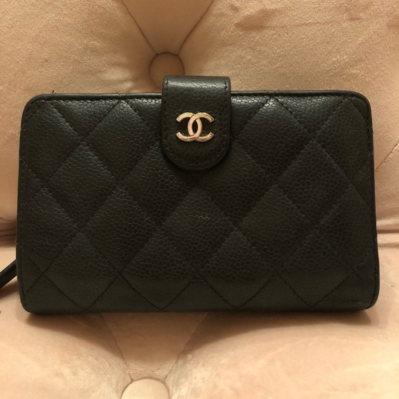 3d227899d8e91a CHANEL Bags | Auth Black Caviar Leather French Wallet | Poshmark